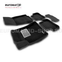 Текстильные 3D коврики Euromat3D Lux в салон для Mercedes CLA-Class (C117) (2013-2018) № EM3D-003516