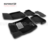 Текстильные 3D коврики Euromat3D Lux в салон для Mercedes GLA-Class (X156) (2014-2018) № EM3D-003516