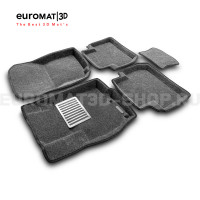 Текстильные 3D коврики Euromat3D Lux в салон для Mitsubishi Outlander XL (2006-2012) № EM3D-003609G Серые