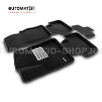 Текстильные 3D коврики Euromat3D Lux в салон для Audi Q7 (2015-) № EM3D-001108