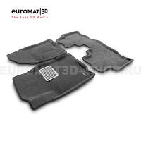 Текстильные 3D коврики Euromat3D Lux в салон для Chevrolet Captiva (2006-2016) № EM3D-001503G Серые