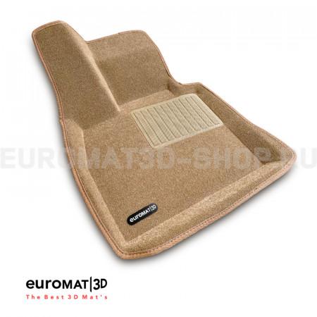 Текстильные 3D коврики Euromat3D Business в салон для Bmw X5 (F15) (2015-) № EMC3D-001215T Бежевые