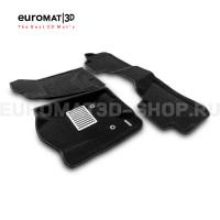 Текстильные 3D коврики Euromat3D Lux в салон для Cadillac Escalade (2015-2021) № EM3D-001306