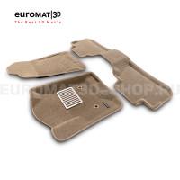 Текстильные 3D коврики Euromat3D Lux в салон для Cadillac Escalade (2015-2021) № EM3D-001306T Бежевые