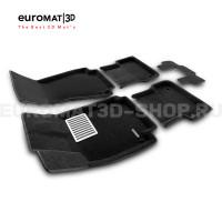 Текстильные 3D коврики Euromat3D Lux в салон для Audi A7 (2010-2018) № EM3D-001107