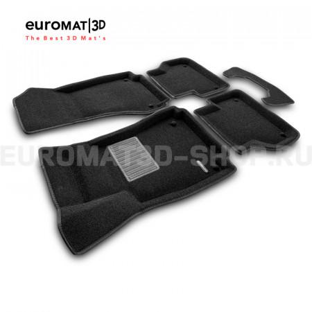 Текстильные 3D коврики Euromat3D Business в салон для Audi A5 (2010-) Sportback № EMC3D-001114