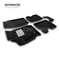Текстильные 3D коврики Euromat3D Lux в салон для Renault Kaptur (2016-) № EM3D-004206