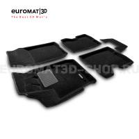 Текстильные 3D коврики Euromat3D Business в салон для Renault Kaptur (2016-) № EMC3D-004206
