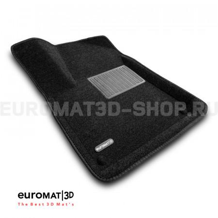 Текстильные 3D коврики Euromat3D Business в салон для Audi Q7 (2015-) № EMC3D-001108