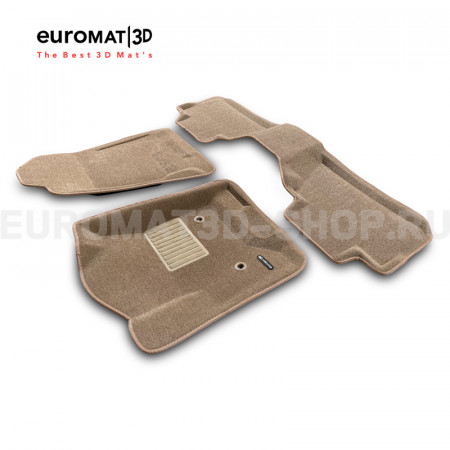 Текстильные 3D коврики Euromat3D Business в салон для Cadillac Escalade (2015-2021) № EMC3D-001306T Бежевые