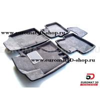 Текстильные 3D коврики Euromat3D Lux в салон для Kia Ceed (2006-2012) № EM3D-002722G Серые