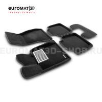 Текстильные 3D коврики Euromat3D Lux в салон для Bmw 3 GT (F34) № EM3D-001216