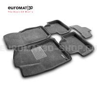 Текстильные 3D коврики Euromat3D Business в салон для Audi Q7 (2015-) № EMC3D-001108G Серые
