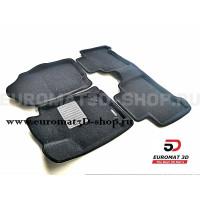 Текстильные 3D коврики Euromat3D Business в салон для Lexus NX (2014-) № EMC3D-003211G Серые