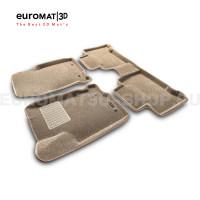 Текстильные 3D коврики Euromat3D Business в салон для Lexus NX (2014-) № EMC3D-003211T Бежевые