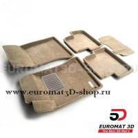 Текстильные 3D коврики Euromat3D Business в салон для Mercedes GLA-Class (X156) (2014-2018) № EMC3D-003516T Бежевые