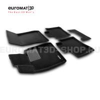 Текстильные 3D коврики Euromat3D Business в салон для Mercedes S-Class (W222) (2013-2020) № EMC3D-003515