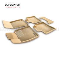 Текстильные 3D коврики Euromat3D Business в салон для Mercedes S-Class (W222) (2013-2020) № EMC3D-003515T Бежевые
