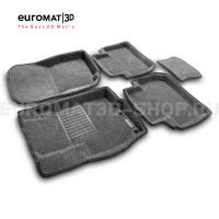 Текстильные 3D коврики Euromat3D Business в салон для Mitsubishi Outlander XL (2006-2012) № EMC3D-003609G Серые