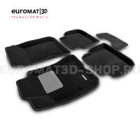 Текстильные 3D коврики Euromat3D Business в салон для Subaru Outback (2002-2009) № EMC3D-004707