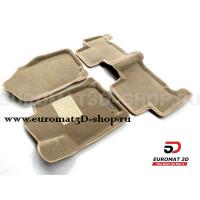 Текстильные 3D коврики Euromat3D Business в салон для Toyota Rav 4 (2006-2013) № EMC3D-005126T Бежевые