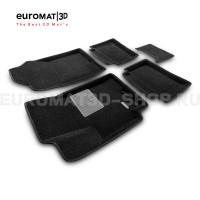 Текстильные 3D коврики Euromat3D Business в салон для Hyundai Solaris (2017-) № EMC3D-002931