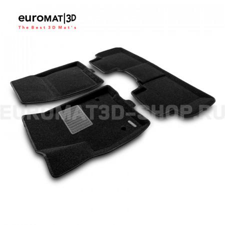 Текстильные 3D коврики Euromat3D Business в салон для Cadillac XT5 (2017-) № EMC3D-001307