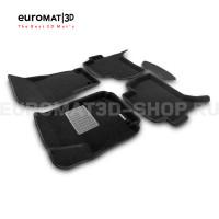 Текстильные 3D коврики Euromat3D Business в салон для Volkswagen Amarok (2010-) № EMC3D-005417