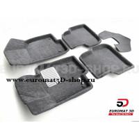Текстильные 3D коврики Euromat3D Lux в салон для Volkswagen Jetta (2010-2018) № EM3D-005414G Серые