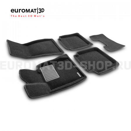 Текстильные 3D коврики Euromat3D Business в салон для Bmw 7 (G12) (2015-) № EMC3D-001203