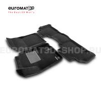 Текстильные 3D коврики Euromat3D Business в салон для Toyota Land Cruiser Prado 150 (2014-) № EMC3D-005120