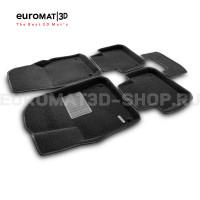 Текстильные 3D коврики Euromat3D Business в салон для Volkswagen Touareg (2018-) № EMC3D-004106