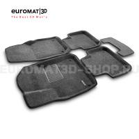 Текстильные 3D коврики Euromat3D Business в салон для Volkswagen Touareg (2018-) № EMC3D-004106G Серые