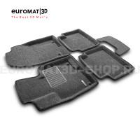 Текстильные 3D коврики Euromat3D Business в салон для Mazda CX-5 (2017-) № EMC3D-003414G Серые
