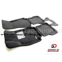 Текстильные 3D коврики Euromat3D Lux в салон для Audi A6 (2011-2018) № EM3D-001107G Серые