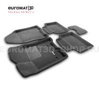 Текстильные 3D коврики Euromat3D Business в салон для Lada Vesta (2015-) № EMC3D-005308G Серые