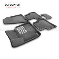 Текстильные 3D коврики Euromat3D Lux в салон для Kia Sportage NEW (2016-) № EM3D-002927G Серые