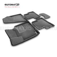 Текстильные 3D коврики Euromat3D Business в салон для Kia Sportage NEW (2016-) № EMC3D-002927G Серые