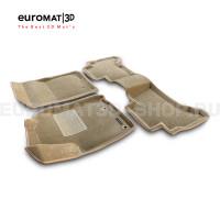 Текстильные 3D коврики Euromat3D Business в салон для Toyota Land Cruiser Prado 150 (2014-) № EMC3D-005120T Бежевые