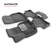 Текстильные 3D коврики Euromat3D Lux в салон для Bmw X3 (G01) (2017-) № EM3D-001222G Серые
