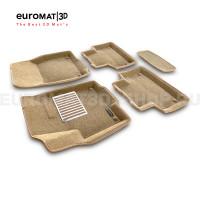 Текстильные 3D коврики Euromat3D Lux в салон для Land Rover Range Rover Evoque (2011-2018) № EM3D-003103T Бежевые