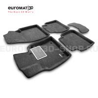 Текстильные 3D коврики Euromat3D Lux в салон для Toyota Camry XV70 (2018-) № EM3D-005101G Серые