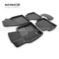 Текстильные 3D коврики Euromat3D Business в салон для Toyota Camry XV70 (2018-) № EMC3D-005101G Серые