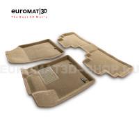 Текстильные 3D коврики Euromat3D Business в салон для Nissan Murano (Z52) (2016-) № EMC3D-003729T Бежевые