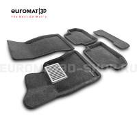 Текстильные 3D коврики Euromat3D Lux в салон для Bmw 5 (F10) (2014-2016) № EM3D-001218G Серые