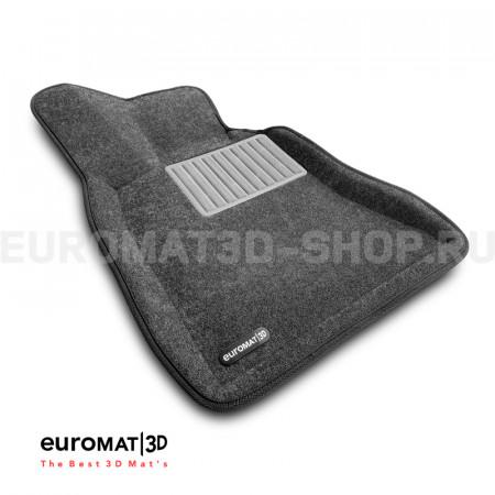 Текстильные 3D коврики Euromat3D Business в салон для Bmw 5 (F10) (2014-2016) № EMC3D-001218G Серые