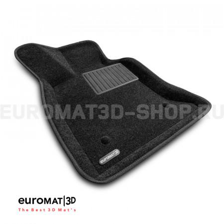 Текстильные 3D коврики Euromat3D Business в салон для Cadillac CT6 (2018-) № EMC3D-001300