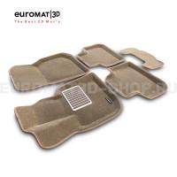 Текстильные 3D коврики Euromat3D Lux в салон для Bmw X4 (G02) (2018-) № EM3D-001222T Бежевые