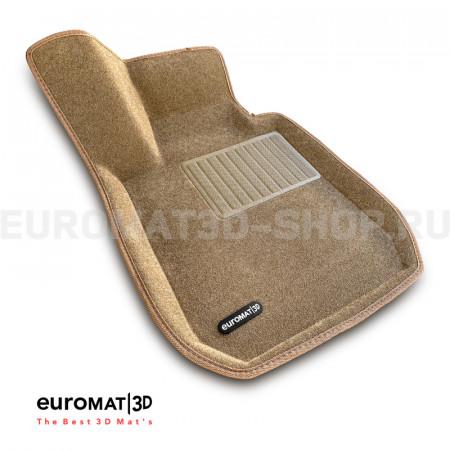 Текстильные 3D коврики Euromat3D Business в салон для Bmw 3 (F30) (2010-2018) № EMC3D-001202T Бежевые