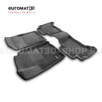 Текстильные 3D коврики Euromat3D Business в салон для Toyota Land Cruiser Prado 150 (2014-) № EMC3D-005120G Серые